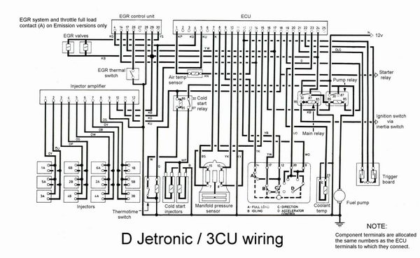 jaguar v12 fuel injection 1975 1980 d jetronic aj6 engineering rh jagweb com Jaguar Electrical Diagrams Jaguar Speaker Wiring Diagrams